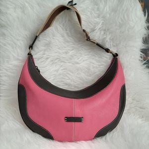 Puntotres Pink Leather Hobo Bag